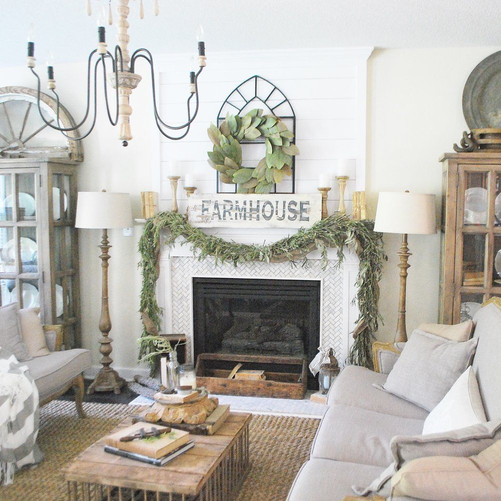 My Cozy French Farmhouse Living Room I M Giving You All