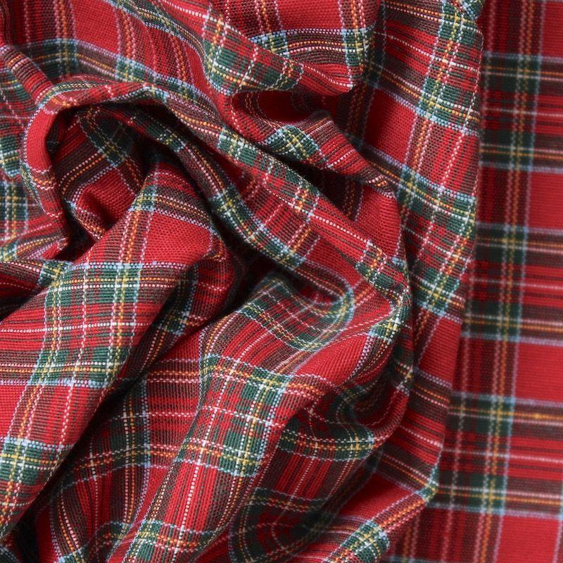 tissu imprim tartan cossais tissu en grande largeur en coton et polyester motif de carreaux. Black Bedroom Furniture Sets. Home Design Ideas