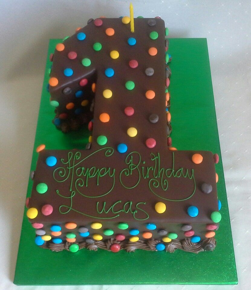 rainbow layered number 1 m chocolate covered 1st birthday