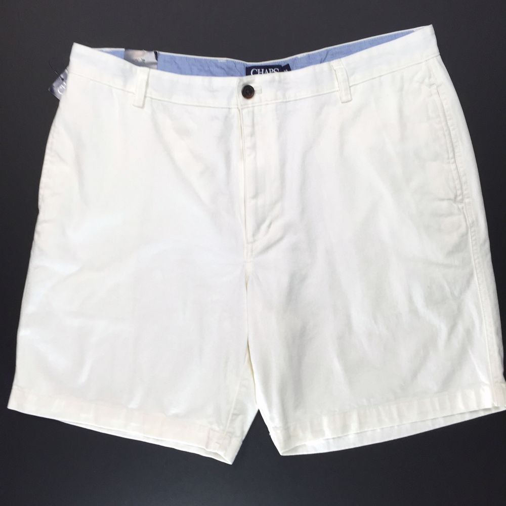 8a5e50dc4b Chaps Mens 38 Shorts Off White Rock Salt Flat Front Classic Fit Golf Preppy  #Chaps #FlatFront