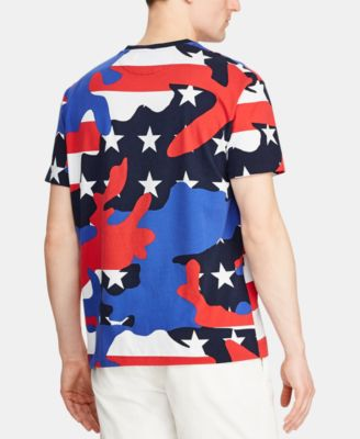 4c9ffa7c Polo Ralph Lauren Men's Classic-Fit Camo Jersey Americana T-Shirt, Created  for Macy's - Americana Camo 2XL