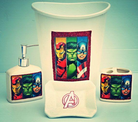 Bathroom Set Super Heros Avengers By