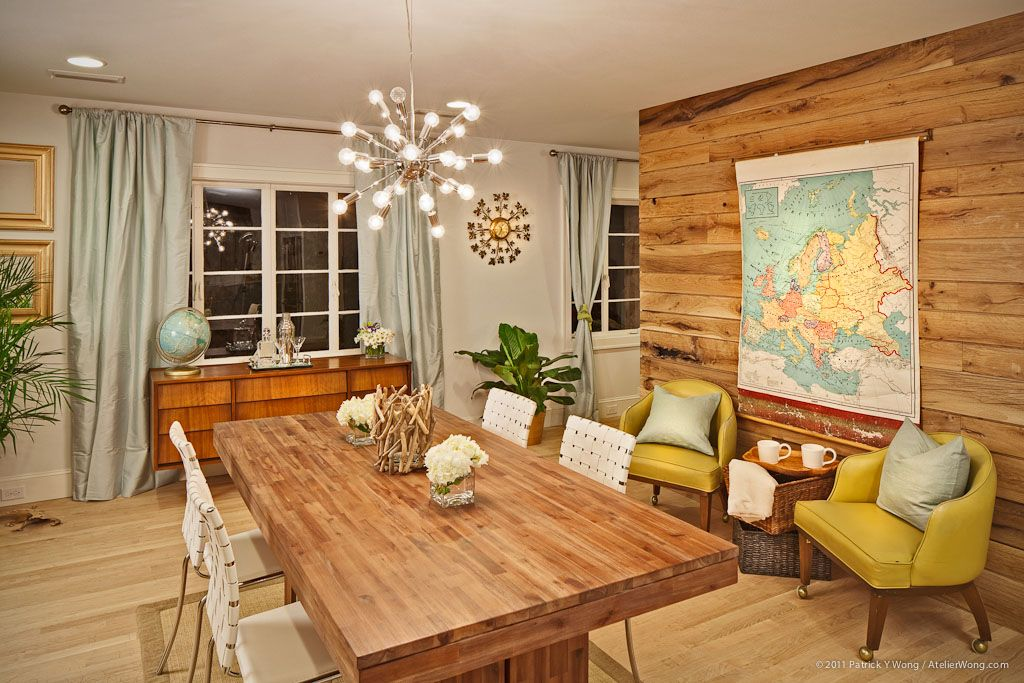 8 Interiors With Hot Pops Of Bold Color Design Trend Report Eclectic Dining RoomsContemporary