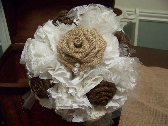 Rustic Chic Wedding Burlap And Lace By Sugarplumcottage On Etsy Tucked In