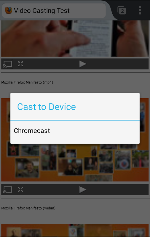 Firefox Nightly for Android introduces Chromecast support