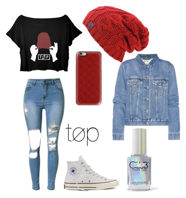 """""""twenty one pilots"""" by madelynnnnnnnne on Polyvore featuring Converse, Color Club, Casetify and Acne Studios"""