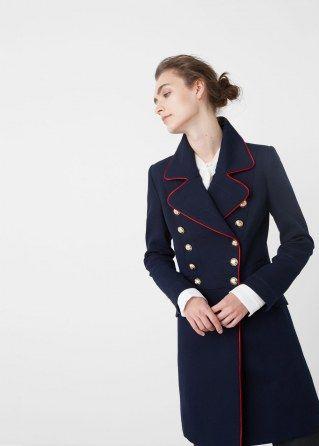 Le manteau officier Mango, 149.99 euros