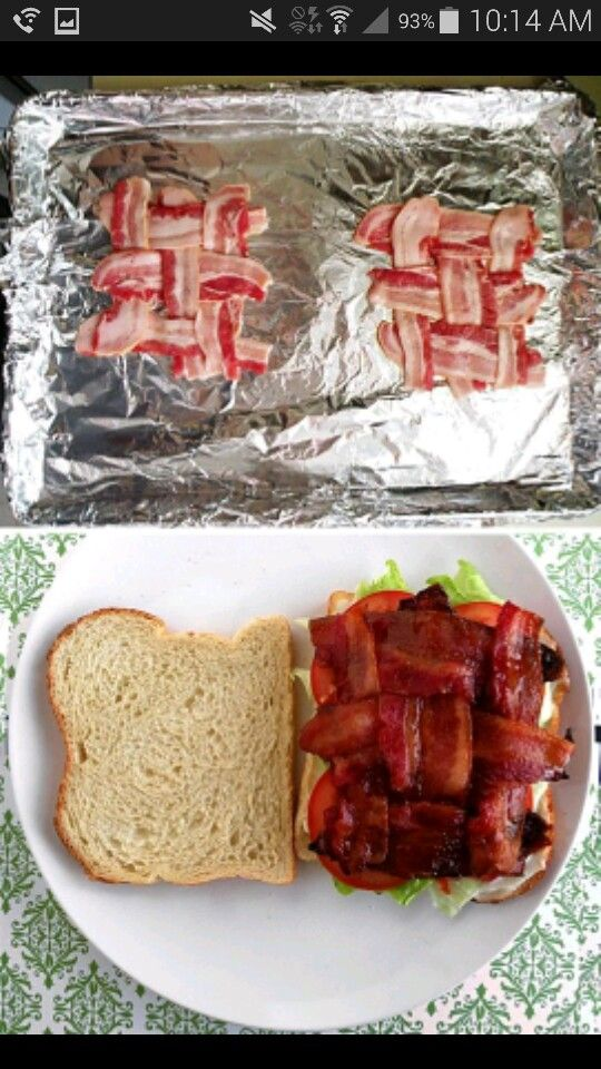 This changed my life of eating blt's  Wave the bacon together!!!!