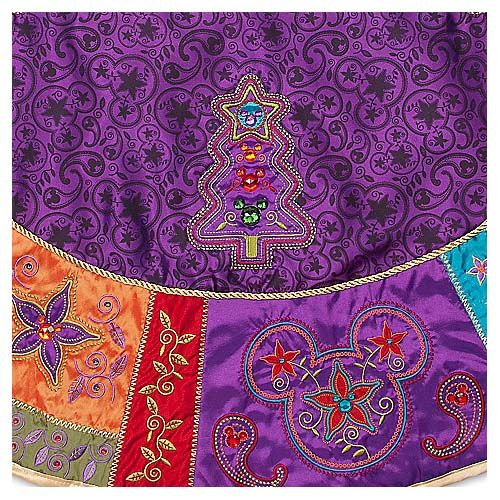 Purple Christmas Tree Skirt | Disney Christmas Holiday Tree Skirt    Bohemian Mickey Mouse   Purple