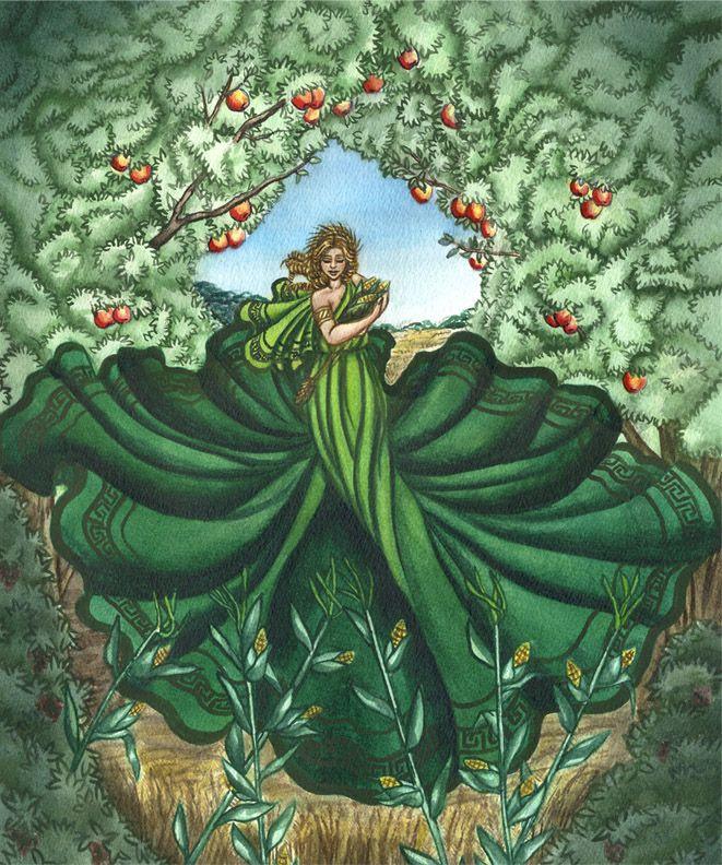 goddess - demeter | Goddess | Greek, roman mythology, Goddess art