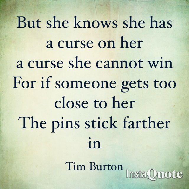 Tim Burton Quotes Mesmerizing Tim Burton Quote  Basically Burton  Pinterest  Tim Burton Poem