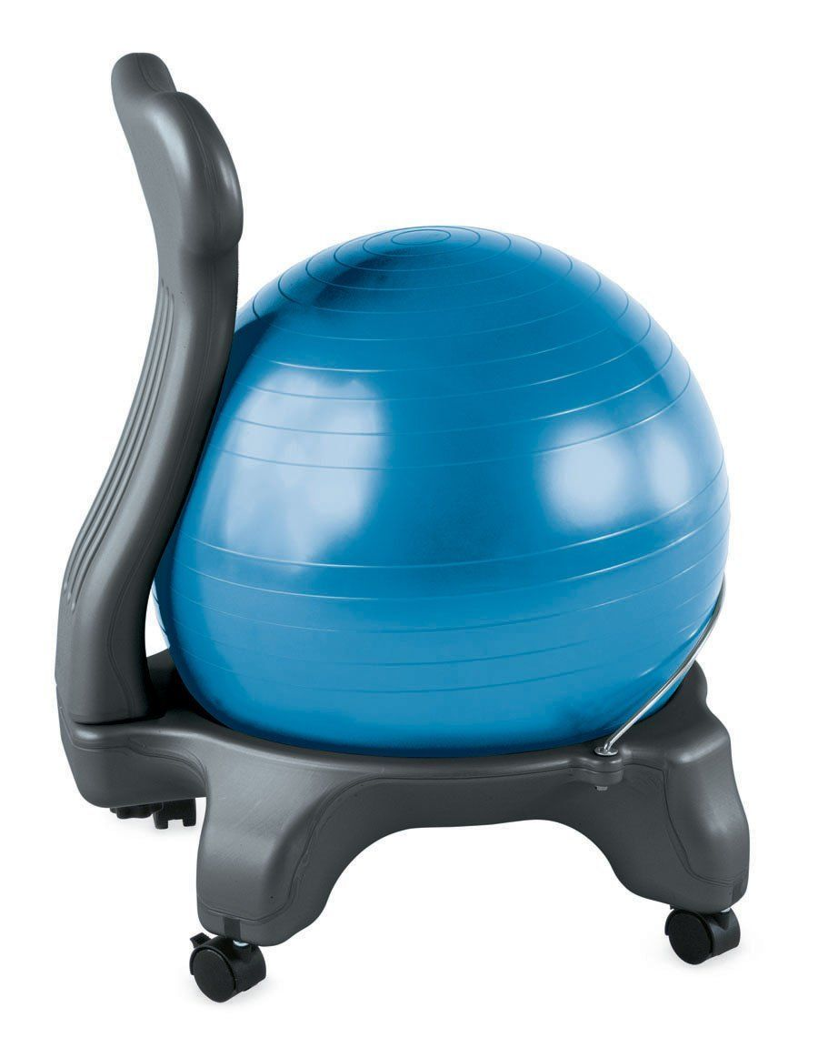 Exercise Ball Desk Chair Amazon Gaiam Balance Ball Chair Blue Sports Outdoors