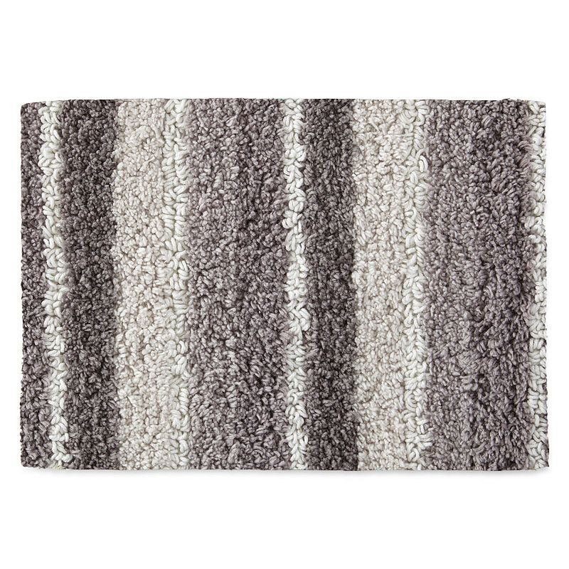 Jcpenney Home Cotton Reversible Stripe Bath Rug Collection Bath