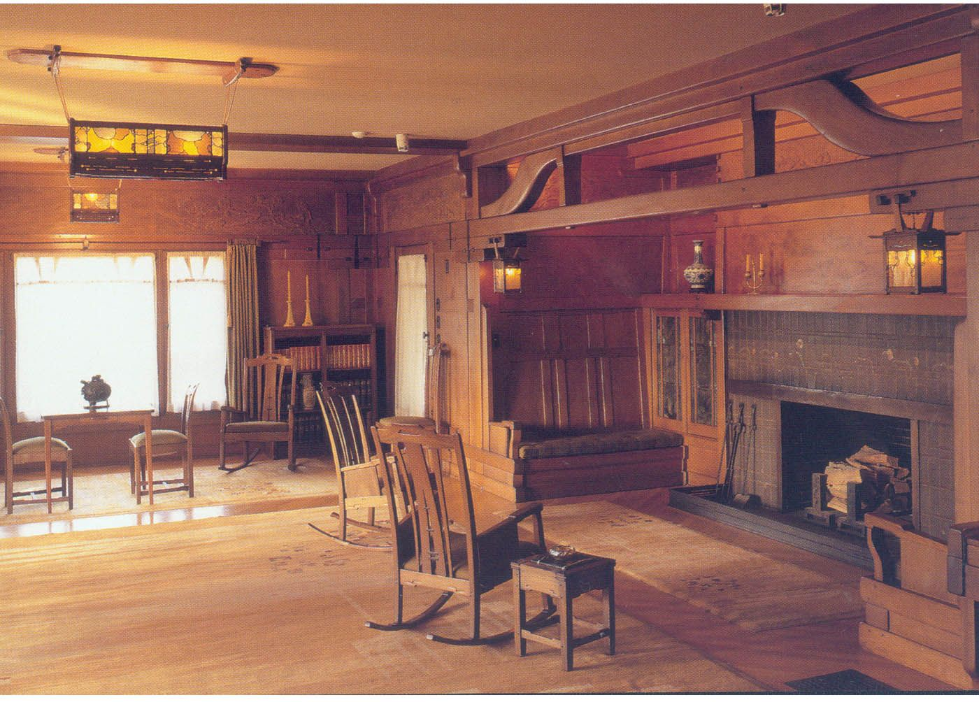 Gamble House Second-floor hall (view to east). (Record ID: gg-m121 ...