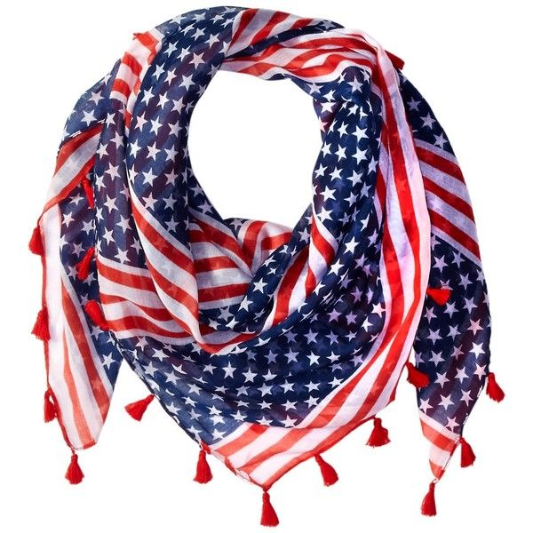 Stars /& Stripes Red White Blue American US Flag Scarf Shawl Wraps Bandanna New