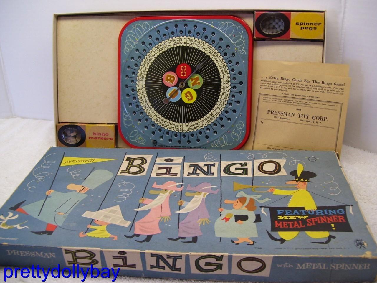 Image detail for -Vtg 60s Bingo Metal Spinner Board Game Pressman Toy NYC | eBay