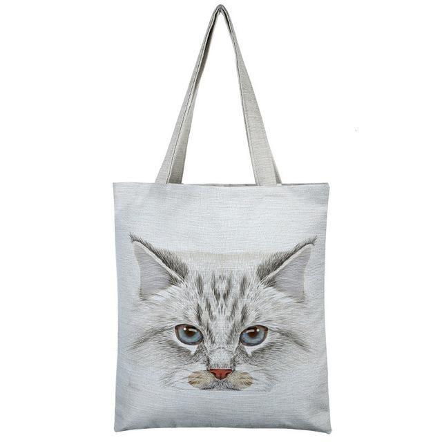 EXCELSIOR Lovely Cat Printed Women s Casual Tote Large Capacity Canvas  Female Shopping Bag Ladies Shoulder Handbag Beach Bag db0e4f20975b4