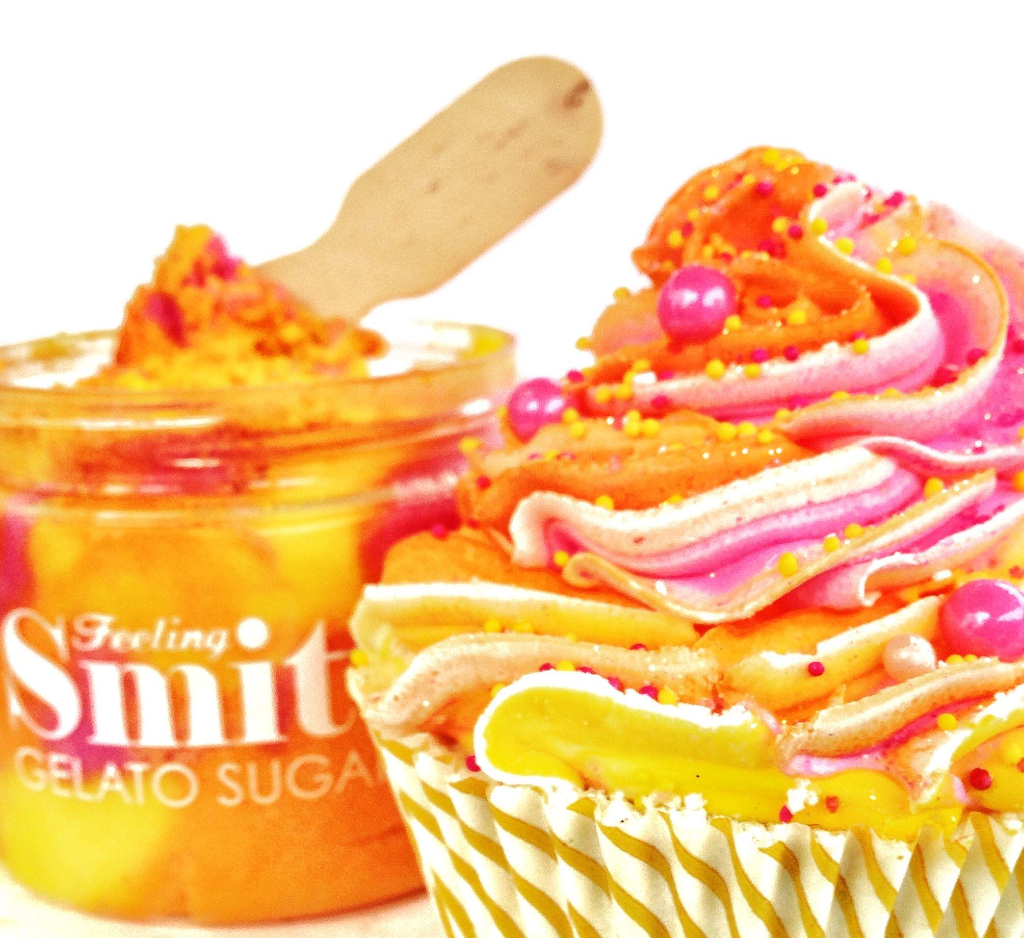 Spring Line: Sherbet Cupcake Bath Bomb and Gelato Sugar Scrub!