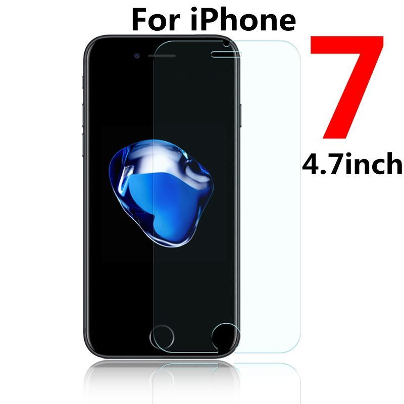 Tempered Glass Screen Film For Apple iphone 4 4s 5 5s 5c SE 6s 6 7 Plus 7Plus Film Clear Protect Slim Shockproof Explosion-proof