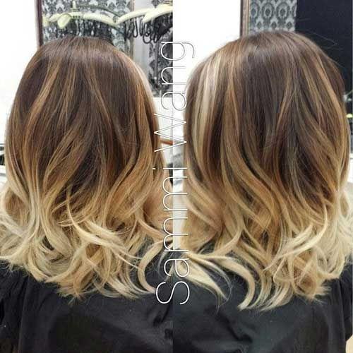20 Kurzes Blondes Ombre Haar Blondes Kurzes Ombre Haare In 2019