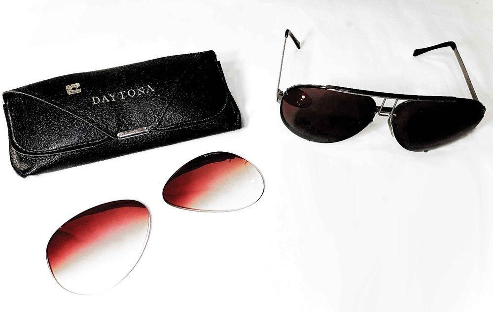 8b5ce82dddb Vintage Cottet Daytona Silver Aviator Sunglasses With 2 Lenses   Case 140  France