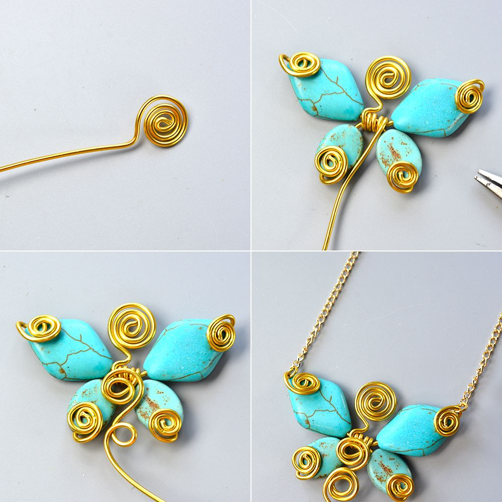 Turquoise-Butterfly-Pendant-Necklace