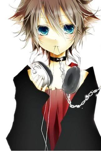Anime Emo Girl With Headphones