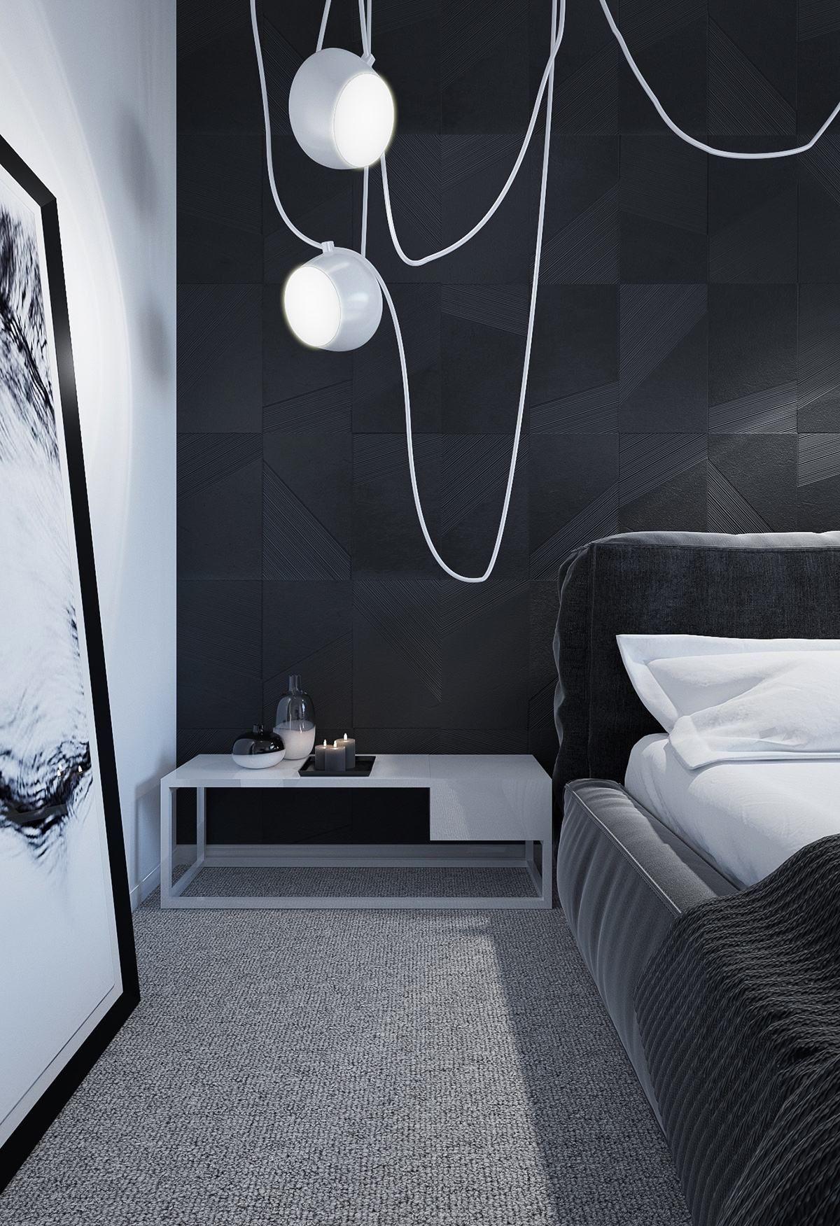 Aim Pendant Lamp On Black Background