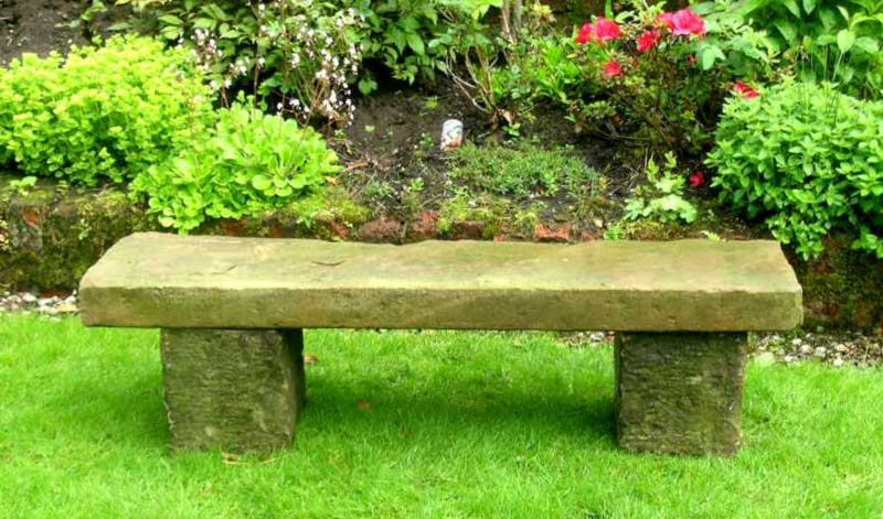 Take A Seat Stone Benches In The Landscape Stone Garden Bench Garden Seating Small Garden Bench