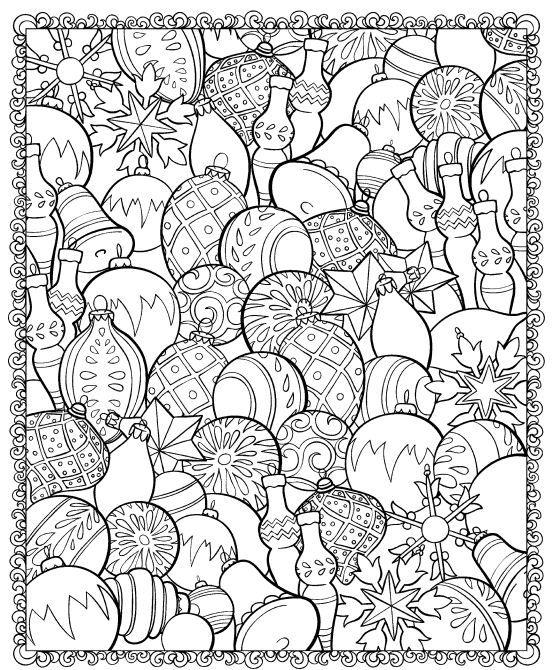 Boules de noel - coloriage | Because! | Pinterest | Colorear ...