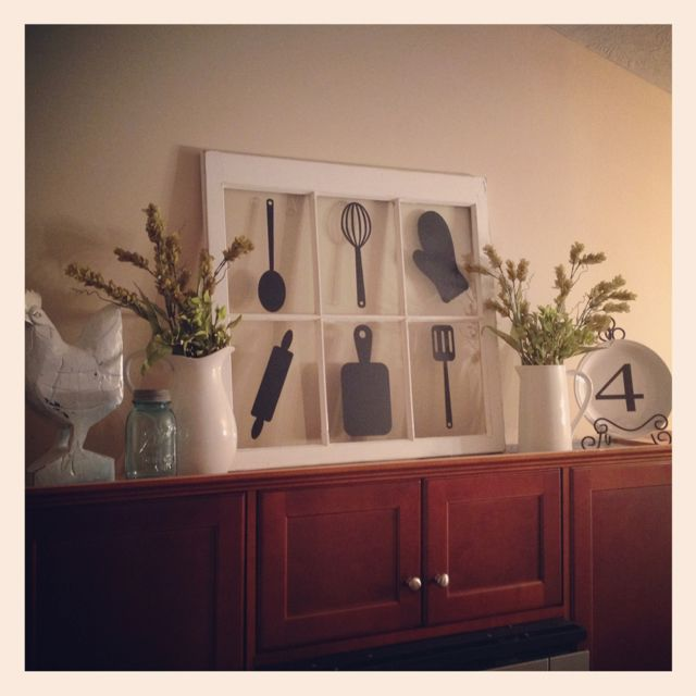 Decor Above Kitchen Cabinets The Silhouettes But On Canvas