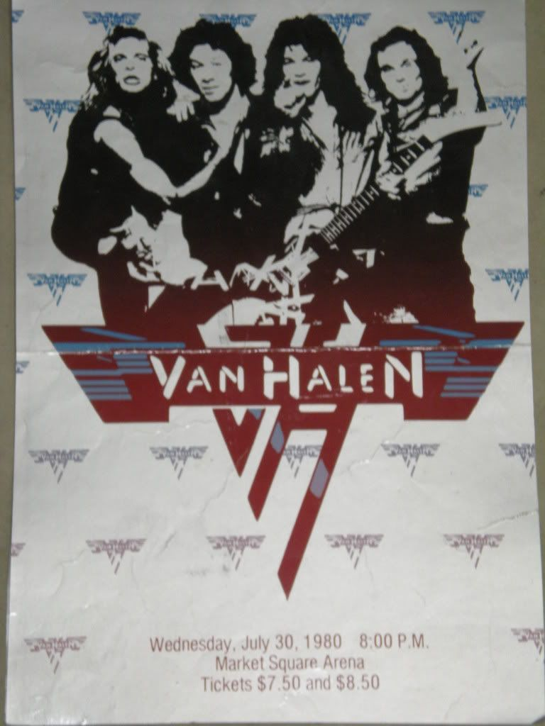 Van Halen Poster Vintage Concert Posters Band Posters Music Poster
