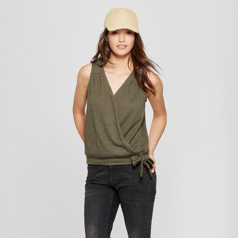 214511ad535 Women s Wrap Front Knot Blouse - Universal Thread™   Target
