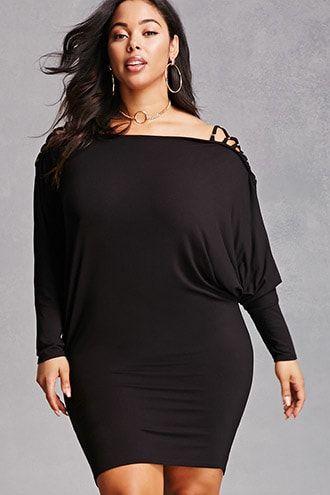 81641f18 Plus Size Dolman Mini Dress in 2019 | Products | Dresses, Plus size ...