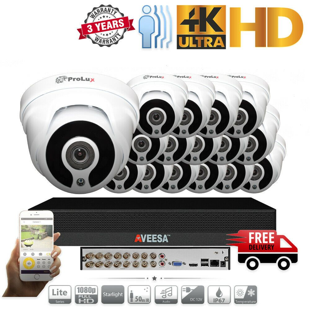Details About Aveesa 1080p 2mp Cctv System Full Hd Dvr 16ch Exir 40m Night Vision Hd Camera Security Camera System Home Security Systems Cctv Security Systems