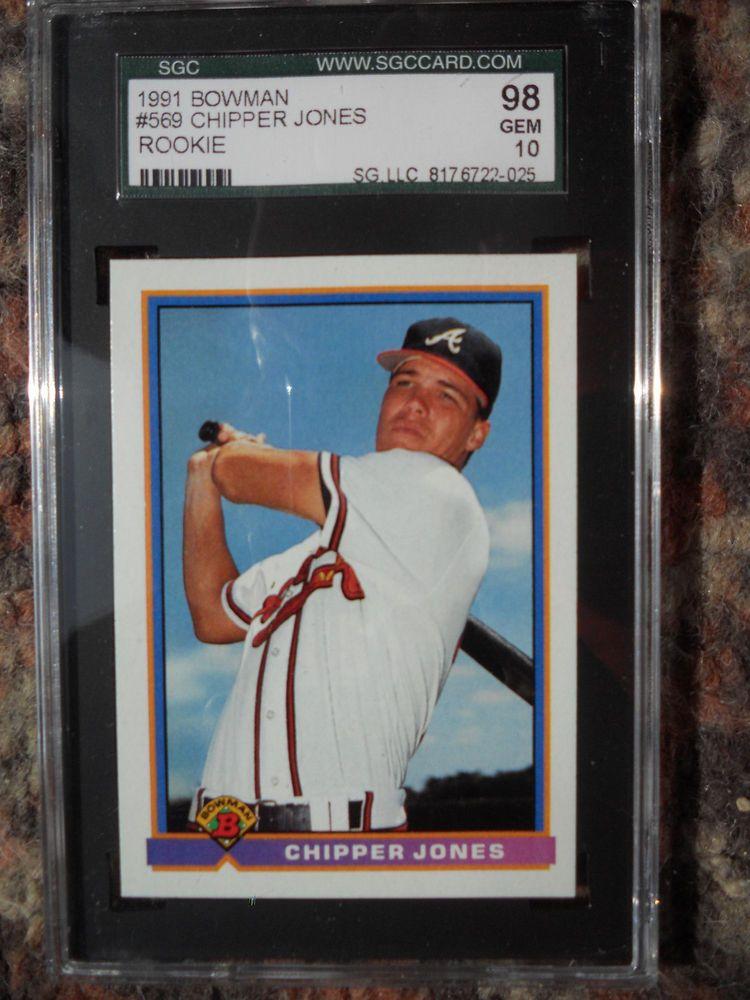 Chipper Jones Braves 1991 Bowman 569 Rookie Card rC PSA