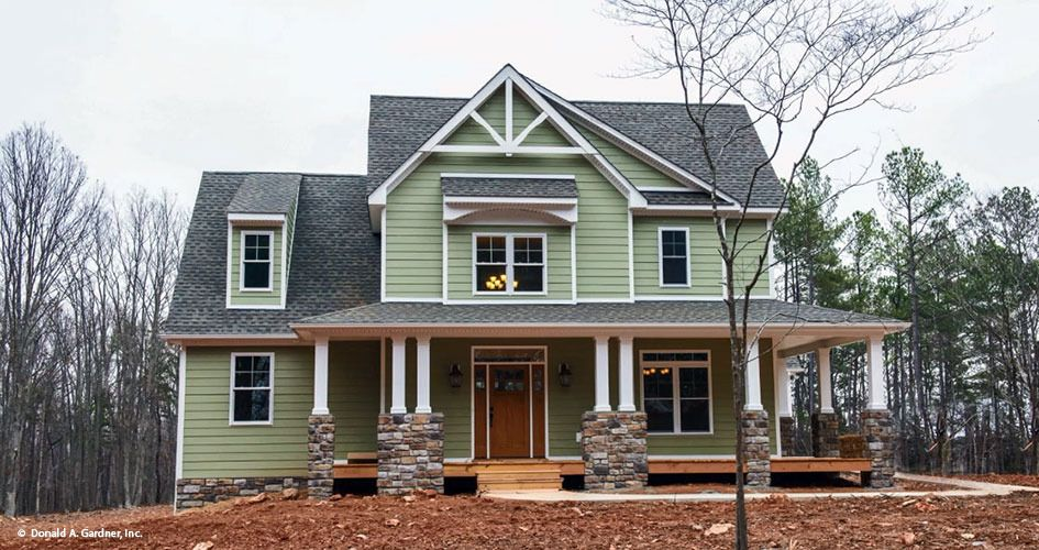 Front Exterior The Trotterville House Plan #984 | Craftsman home ...
