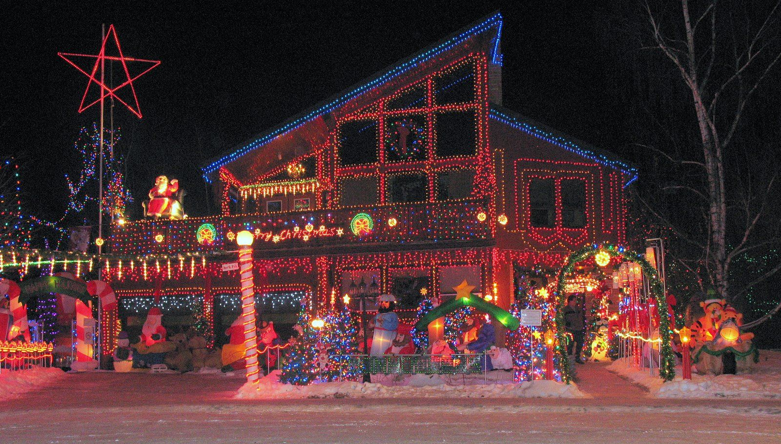 ... Light images of christmas, Xmas picture, Christmas lights on houses