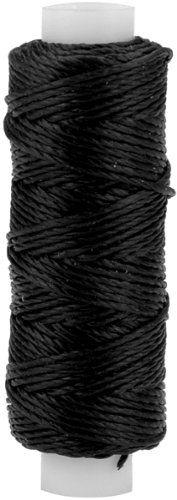 Tandy Leather Factory Waxed Nylon Thread, 25-Yard Spool, Black
