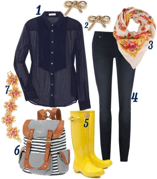 marvelous preppy rainy day outfit images