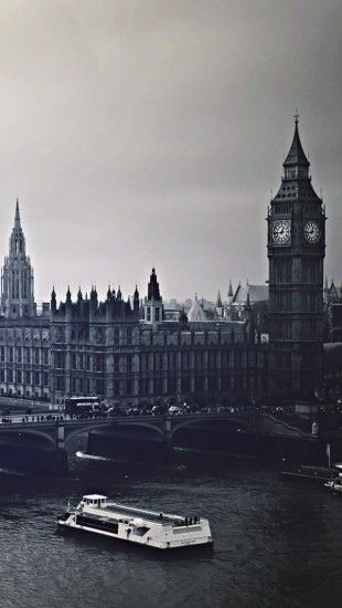 London City Black And White Black White Wallpaper Iphone