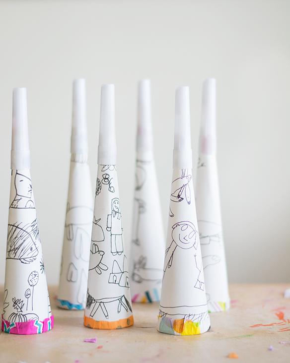 Diy Confetti Blowers With Kids Art Diy Confetti Diy Party Blower Easy Diy Gifts