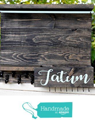 Rustic Wood Jewelry and Bedroom Organizer Wall Mounted Shabby Chic