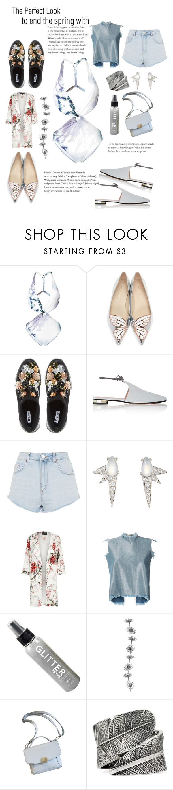 """""""last days of spring"""" by veredrosestyle ❤ liked on Polyvore featuring Fleur of England, Sophia Webster, Dune, Barneys New York, Topshop, Finn, River Island, Marques'Almeida and Decree"""