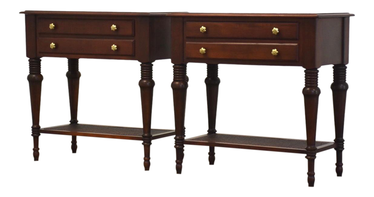 Ethan Allen British Collection Nightstands - a Pair on Chairish.com