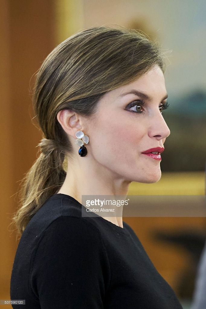 Queen Letizia of Spain meets Medical and Scientific personalities at the Zarzuela Palace on June 2, 2016 in Madrid, Spain.