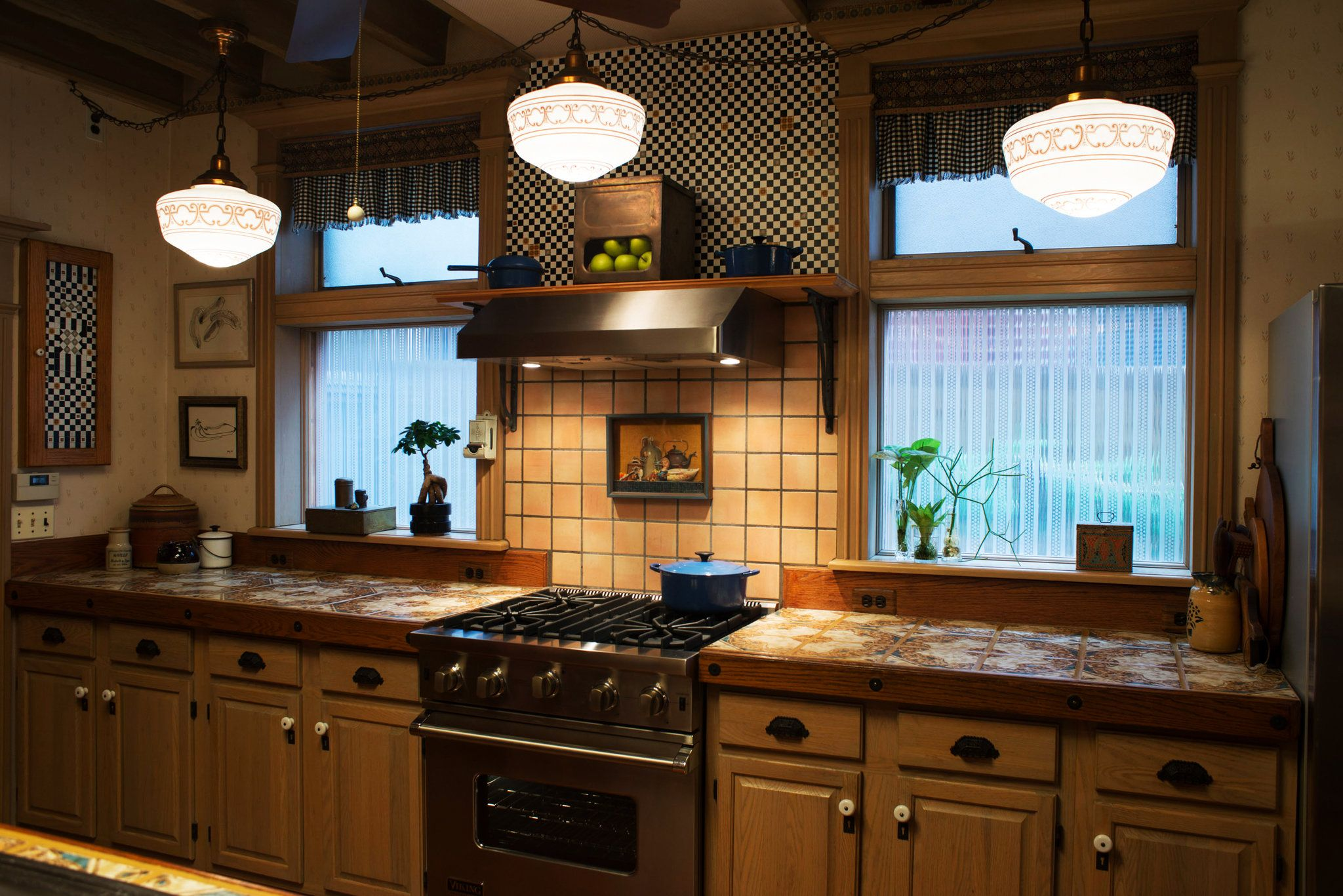 What You Get For 1 100 000 Tile Countertops Kitchen Countertops Mexican Tile Kitchen