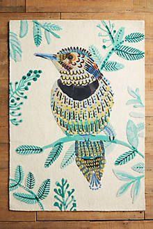 Plumita Rug Hand Tufted Rugs Bird