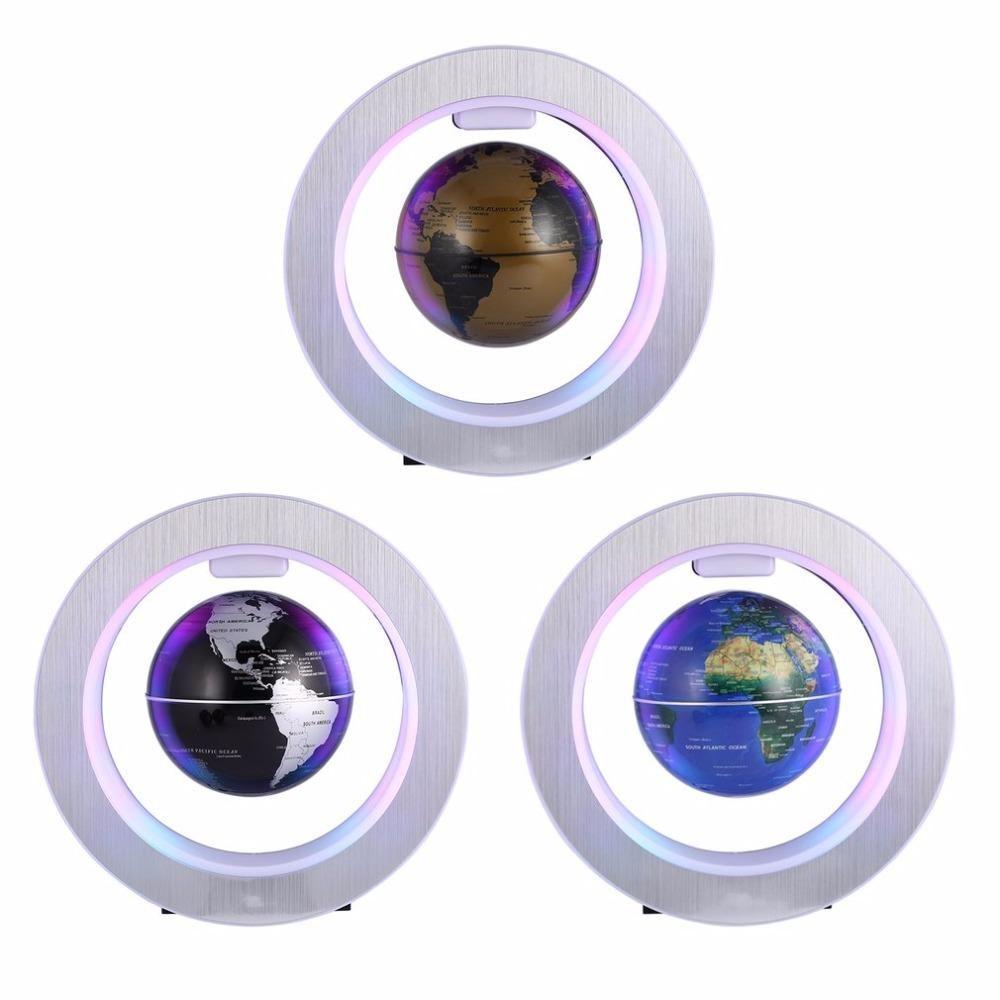 LED World Map Novelty Levitation Floating Globe