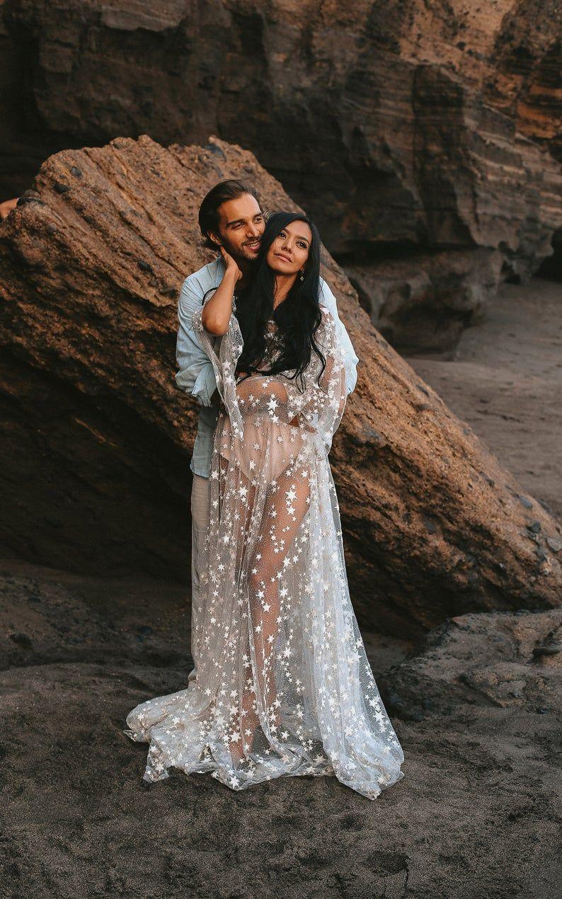 Counting Stars Boho Wedding Dress by Boom Blush. Unique